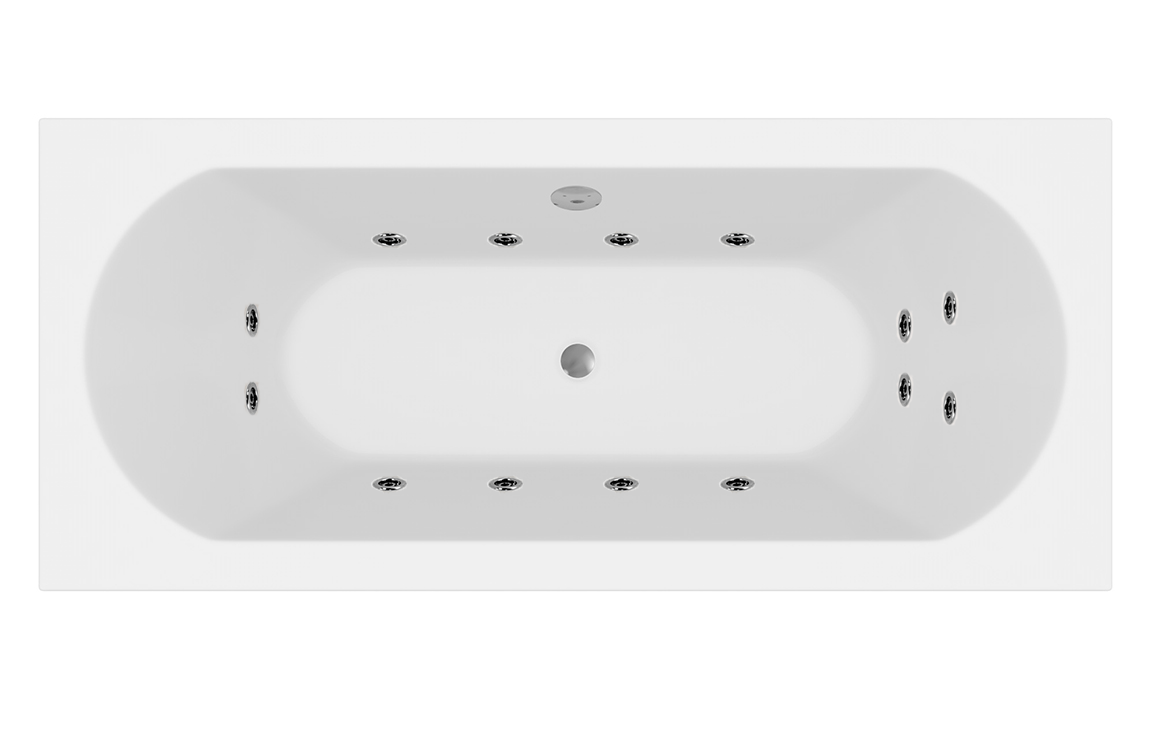 Round Double Ended Bath with Jets